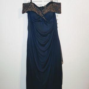 Xscape beaded shoulder dress